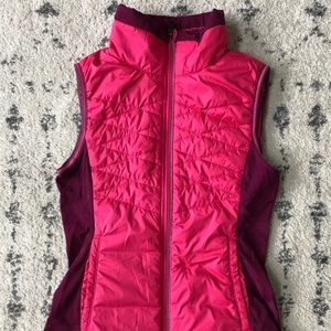Lightweight Lole Quilted Hot Pink Vest - Size S